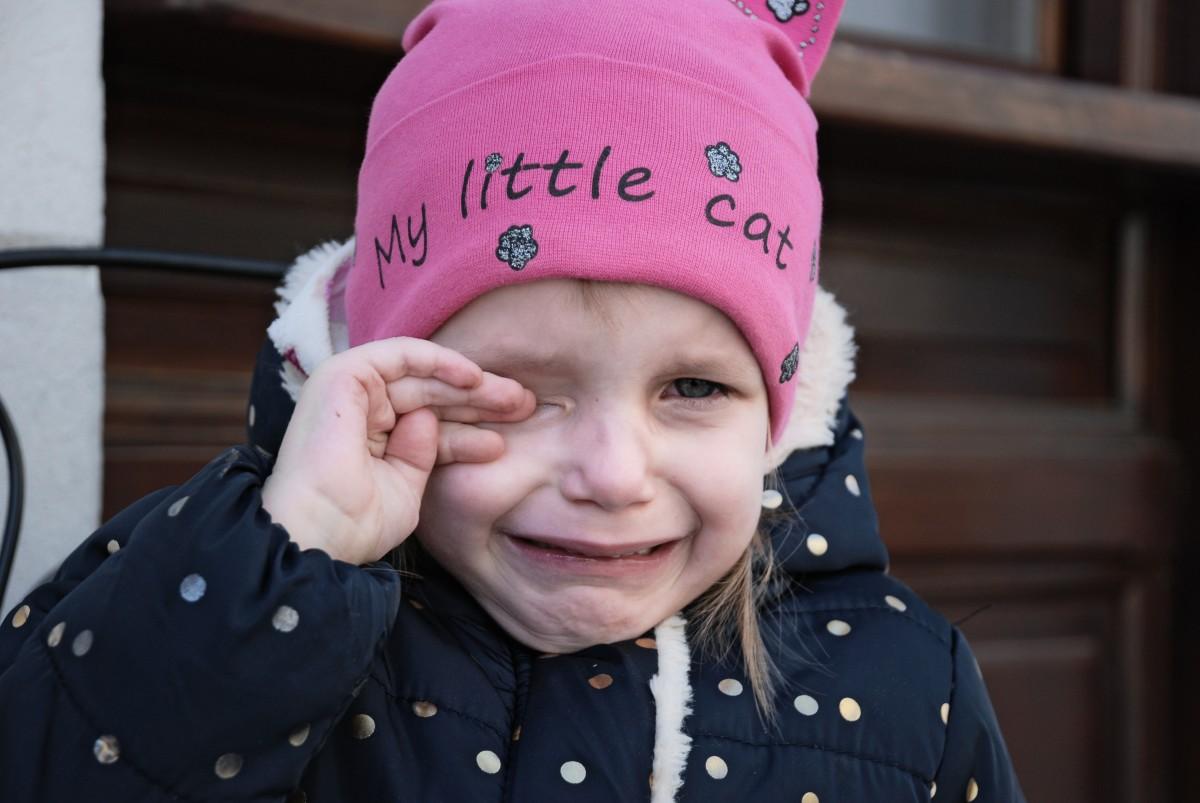 Little girl having a tantrum