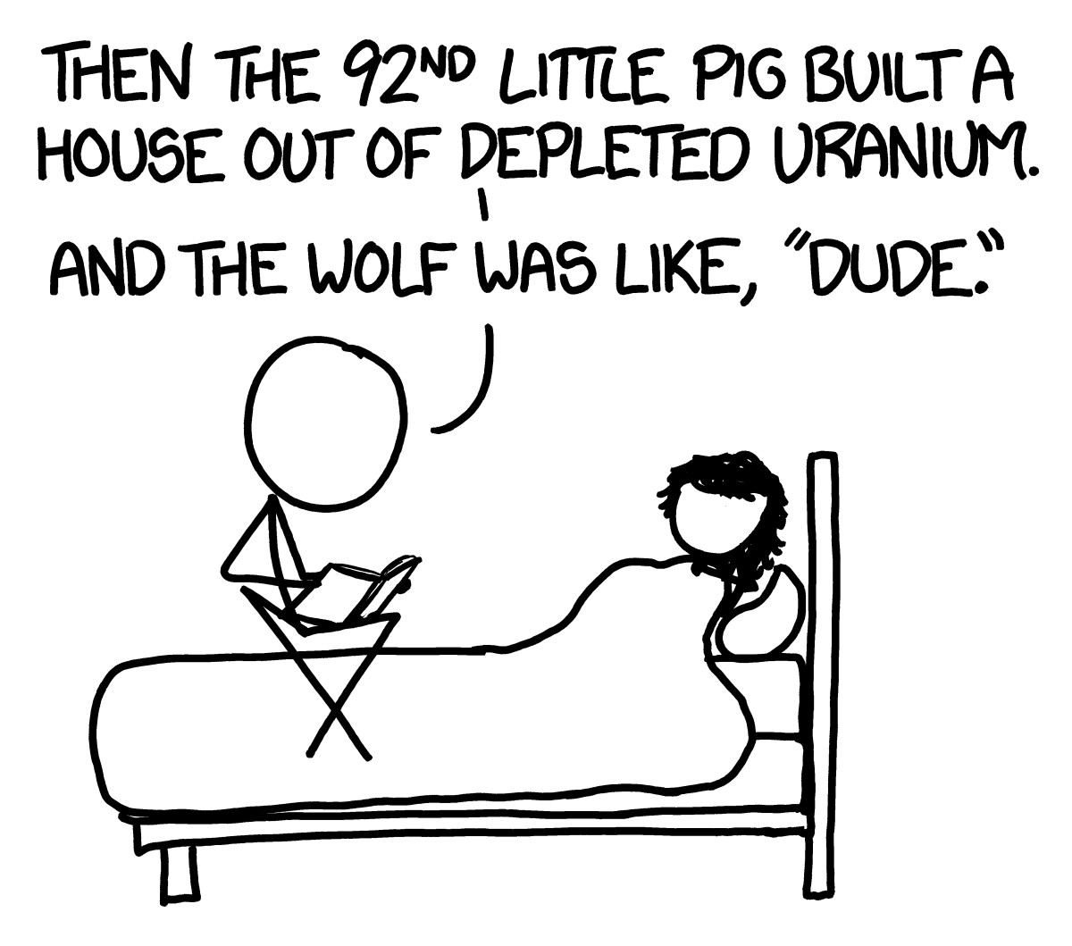 A comic drawn by the book's author, Randall Munroe