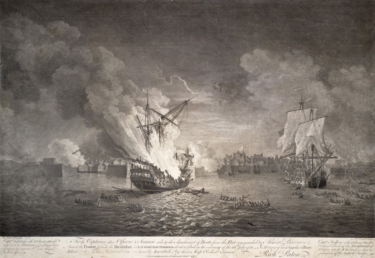 The British capture of Louisbourg, a crucial moment in the war which laid open the path to Quebec and the fall of French North America.