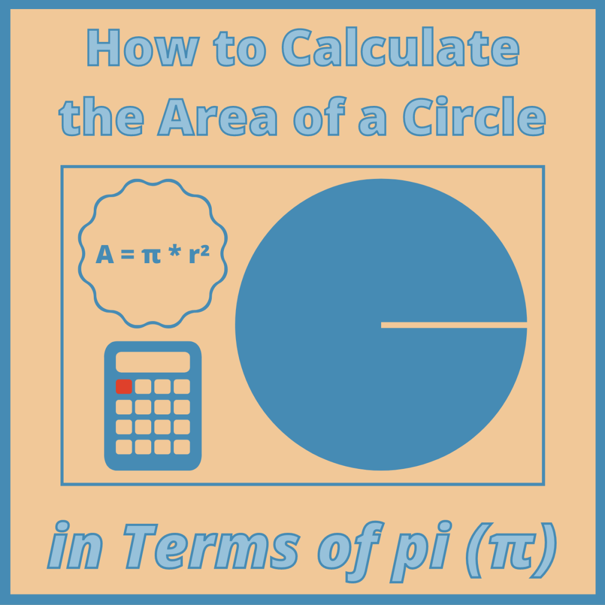 Learn how to calculate the area of a circle and express your answer in terms of pi.