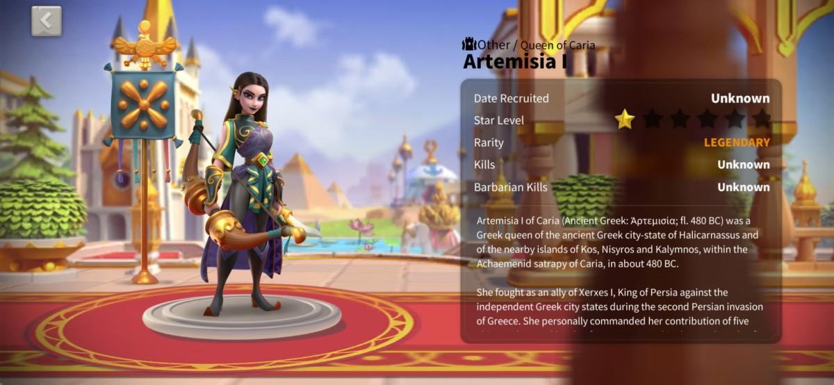 Artemisia I Profile Page