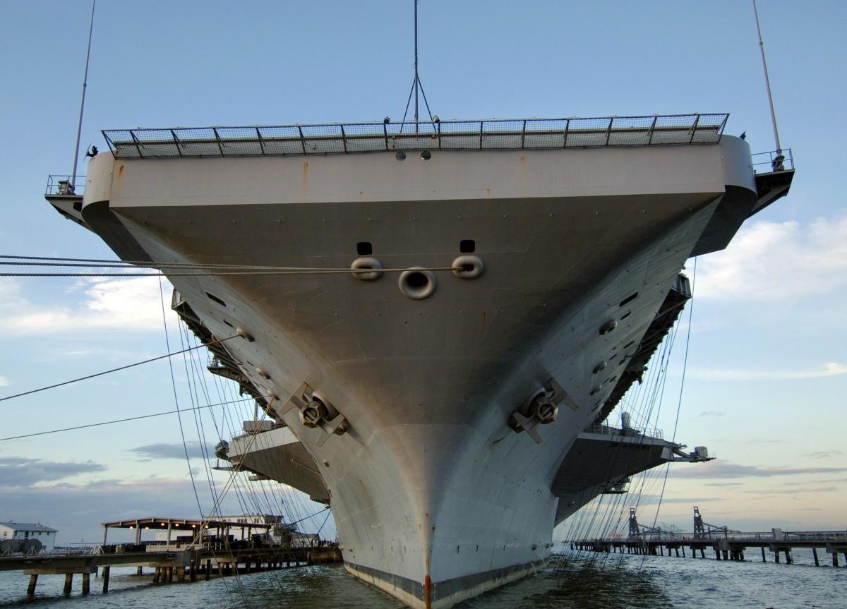 The USS Harry S. Truman docked in Norfolk, Virginia