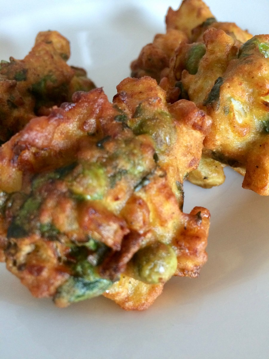 Vegetable Pakoras With Carrot and Onion Raita