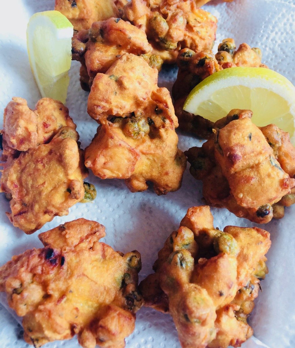Indian Vegetable Pakoras With Carrot and Onion Raita Recipe