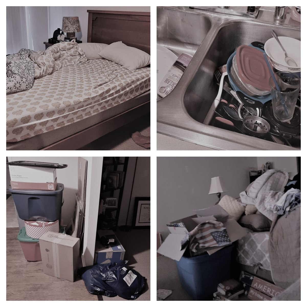 This is only a small part of my mess. I feel horrible about not being able to keep a cleaner home. I know people think I am just lazy, but sometimes, it is just too much.