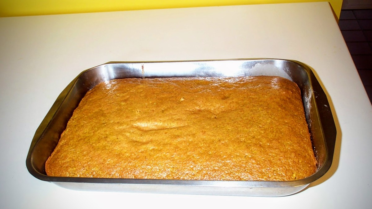 """A golden beet cake takes no more time to make than do most """"garden"""" cakes, and is a beautiful addition to a celebration or meal. You may top it with cream cheese frosting, if desired."""