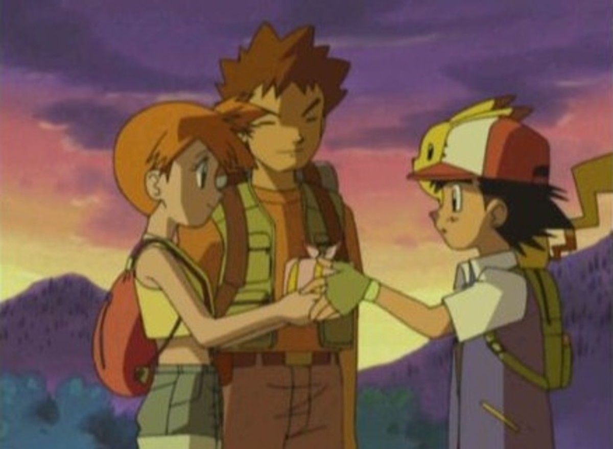 Misty and Brock leave Ash
