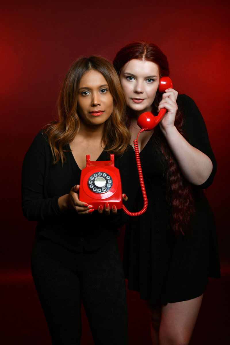 Suruthi Bala, left and Hannah McGuire, right, of RedHanded keep it cool and forthright on their award winning crime podcast.