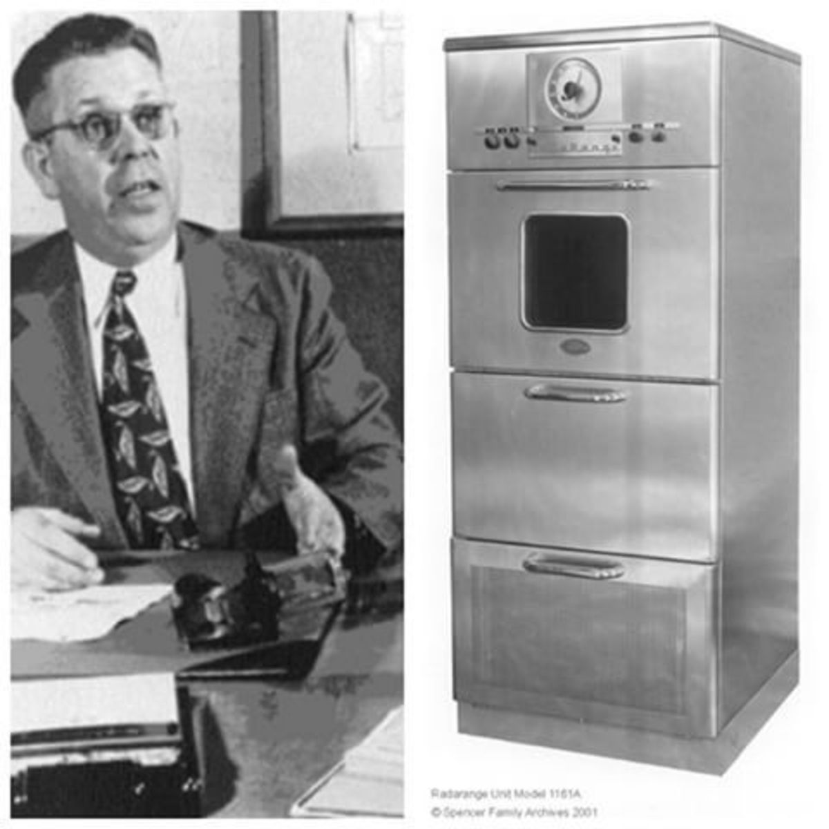 Percy Spencer and first commercial microwave oven