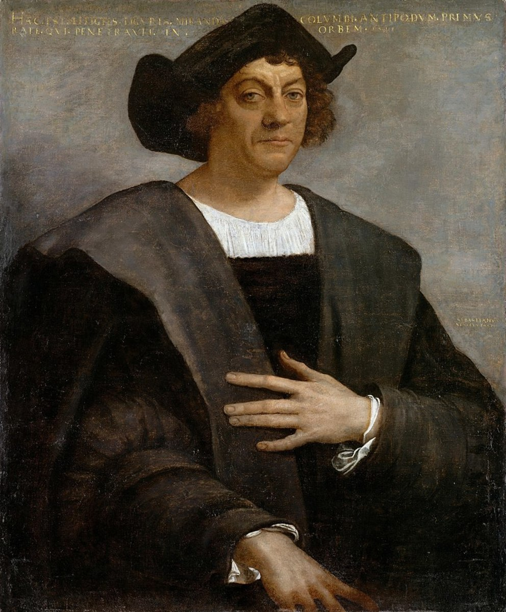 Portrait of Christopher Columbus by Sebastiano del Piombo in 1519. No known authentic portrait of Columbus exists.