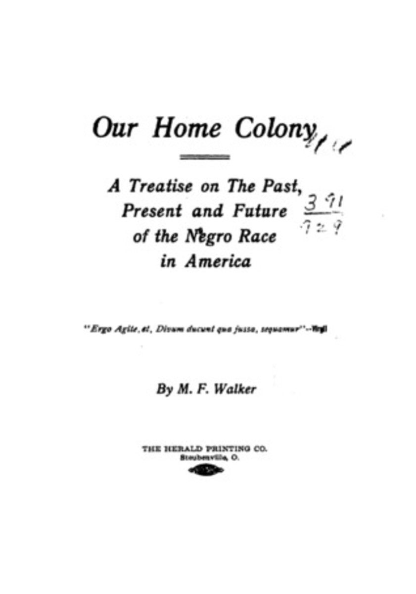 Our Home Colony Written by Moses Fleetwood Walker