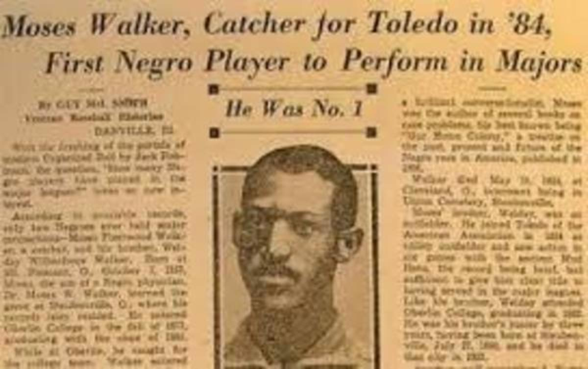 Newspaper story about Moses Fleetwood Walker