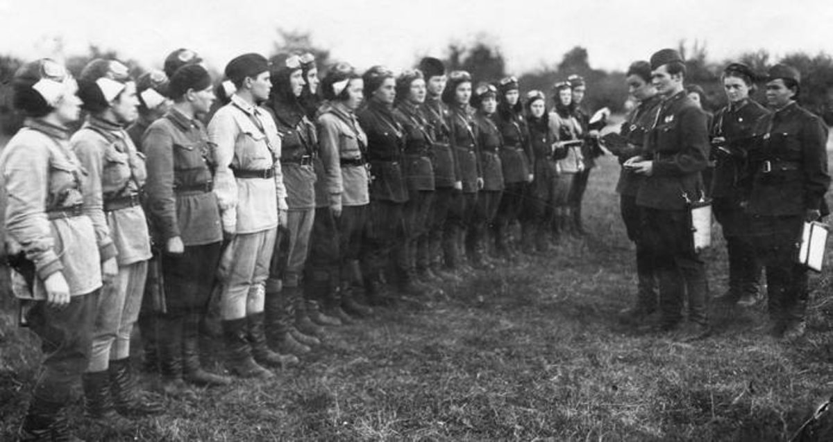 Night Witches before going on mission