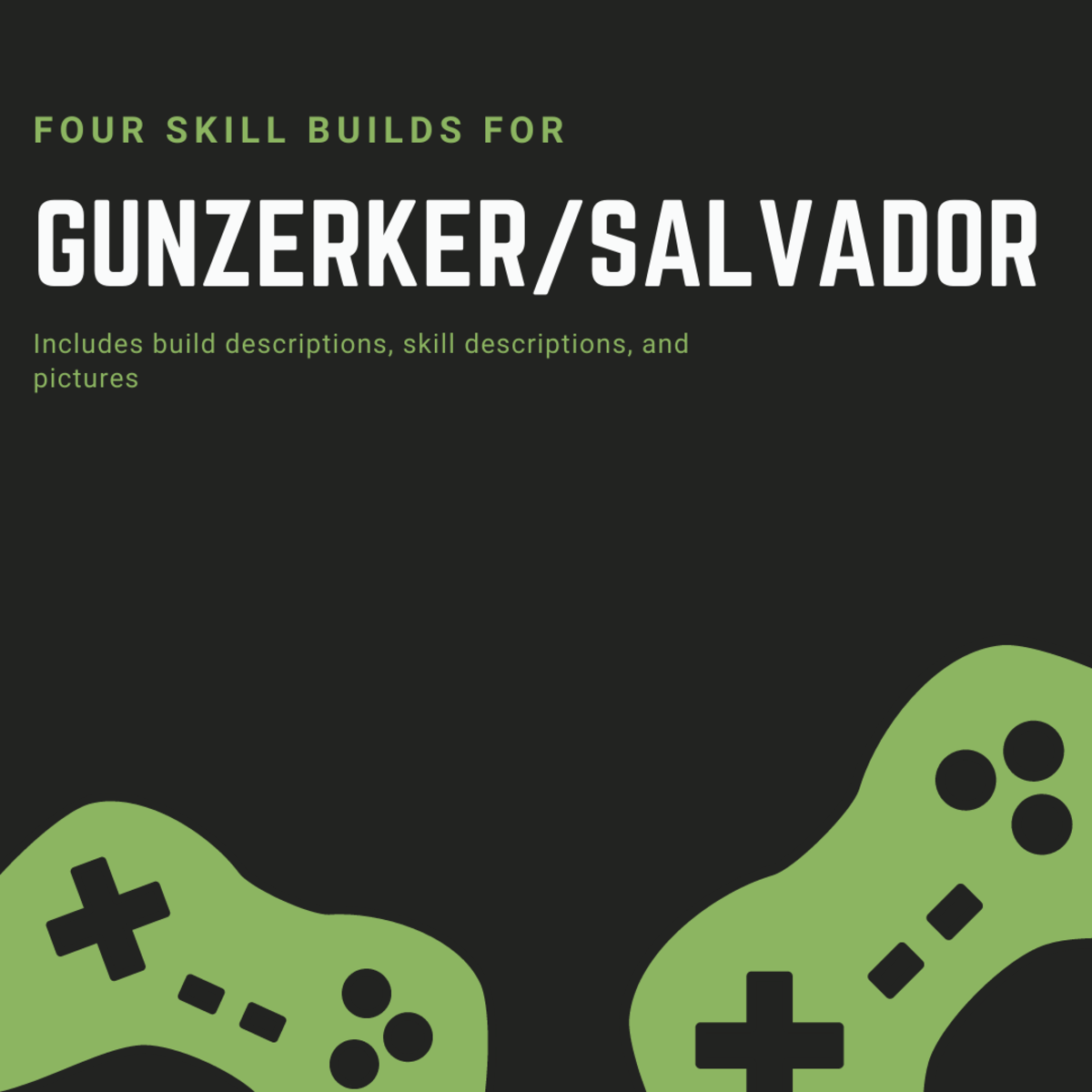 Salvador is especially fun to play if you have a strategy and you know what kind of skill sets you want to develop. Here are my own favorite builds for Salvator.