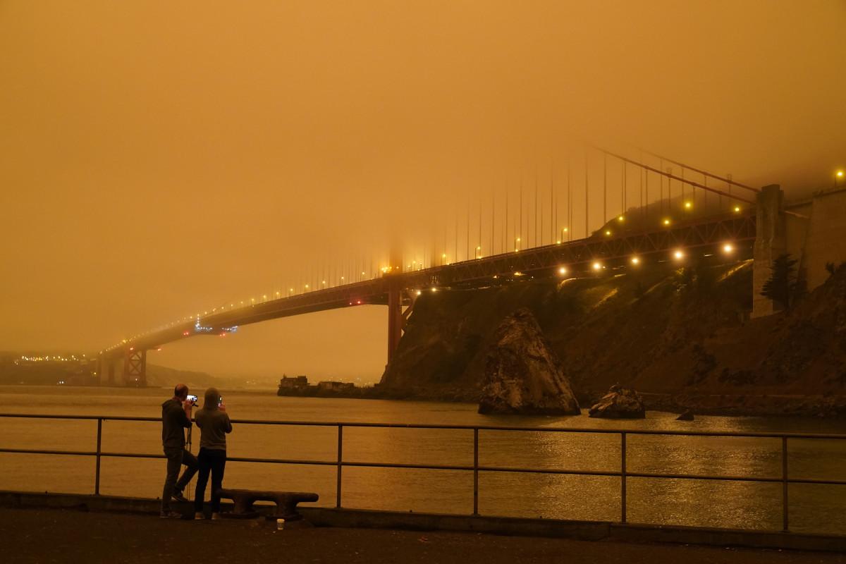 the Golden Gate Bridge, 09/09/2020