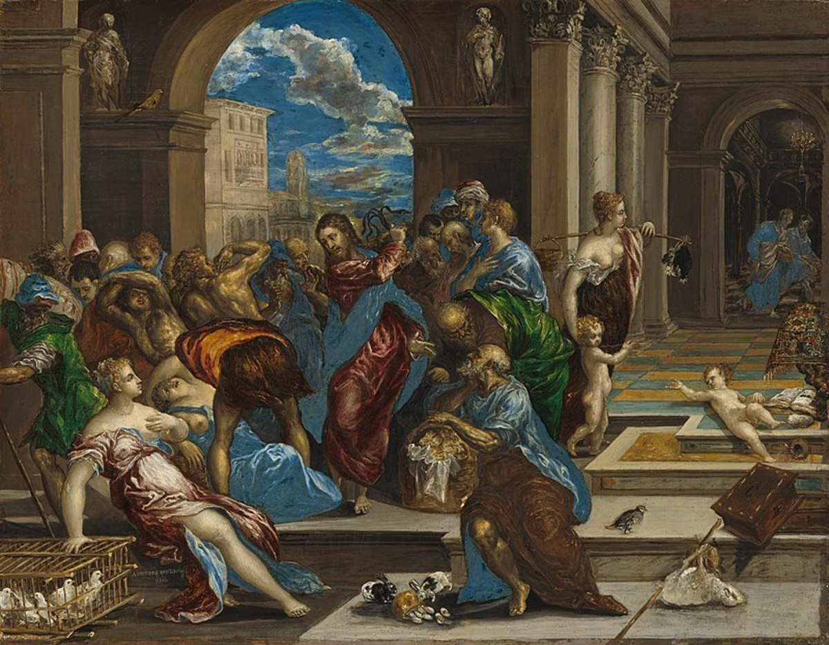 """""""Christ Driving the Money Changers From the Temple"""" by El Greco"""