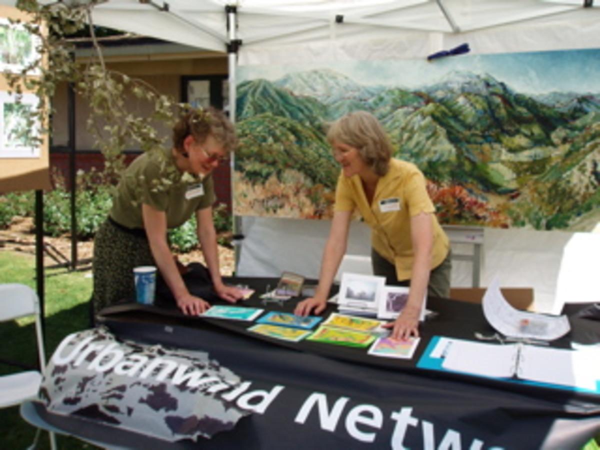 Urbanwild's Altadena Woodlands booth at Pasadena's Earth Day Fair in 2010.