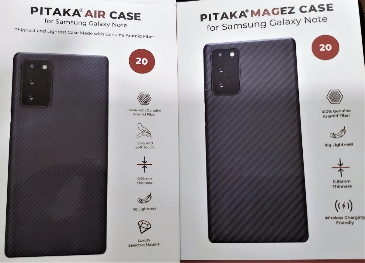 Air Case for Note 20 (left) - MagEZ Case for Note 20 (right)