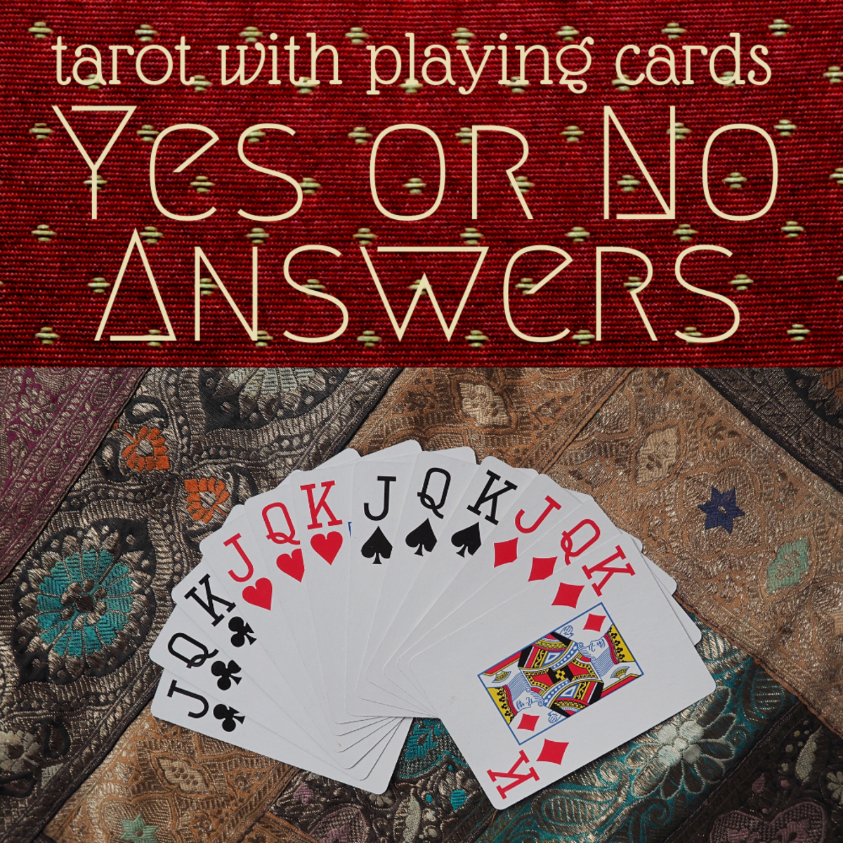 Playing cards to tell your fortune: Yes or no answers.