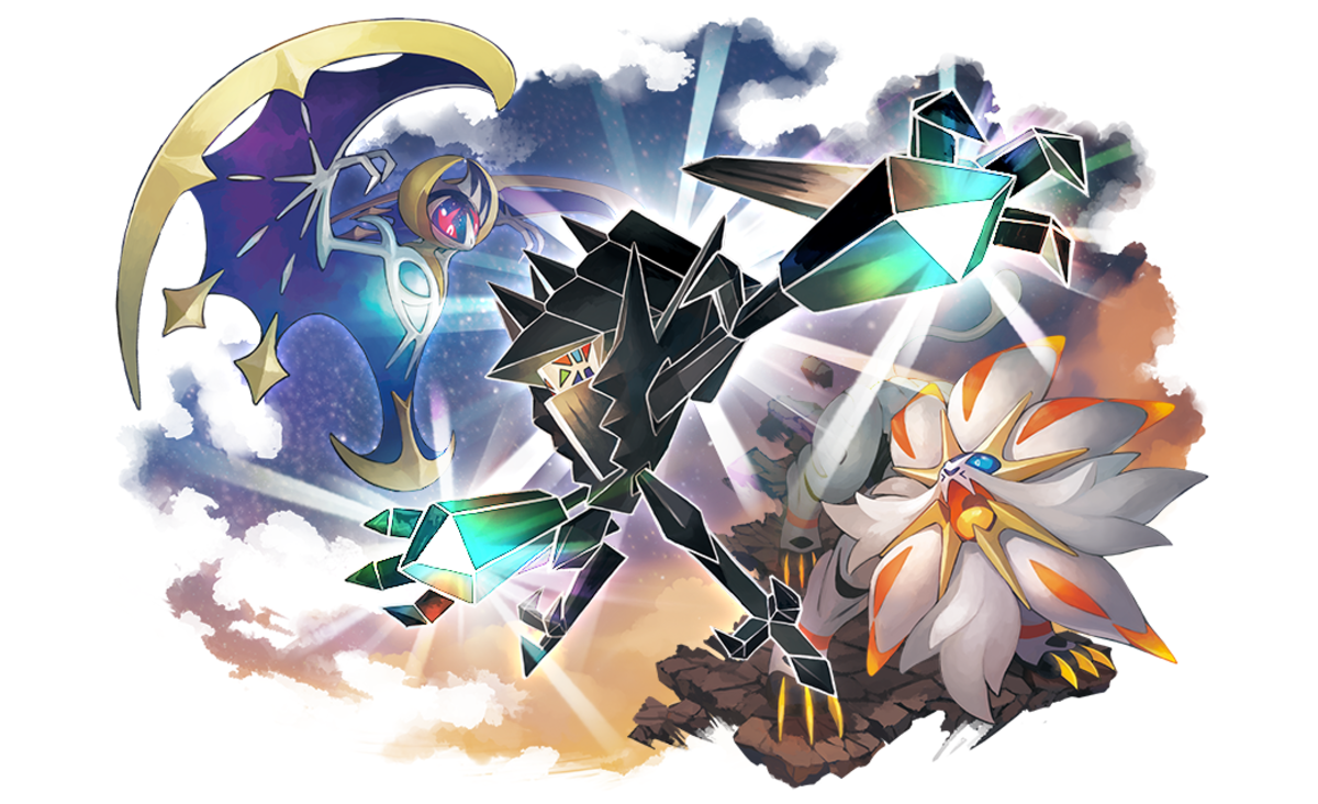 Lunala, Necrozma, and Solgaleo