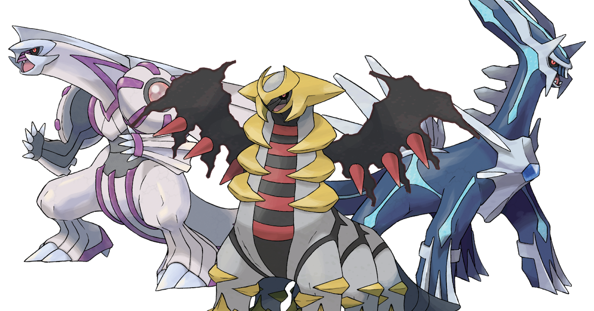 Palkia, Giratina, and Dialga