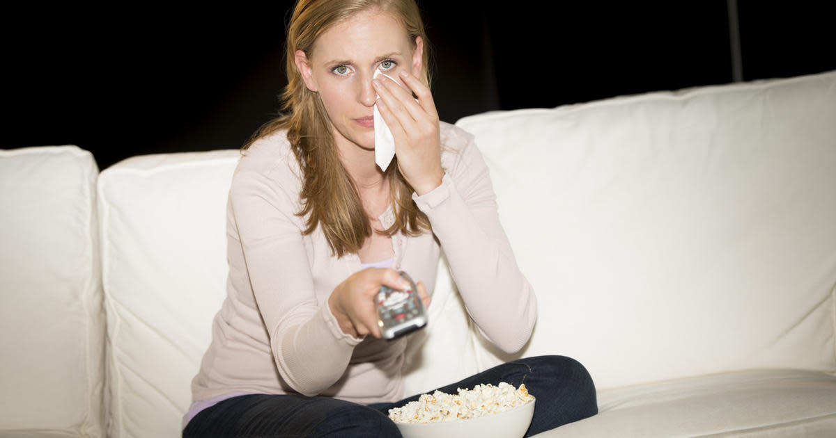 Watching excessive television might be a sign of sadness.