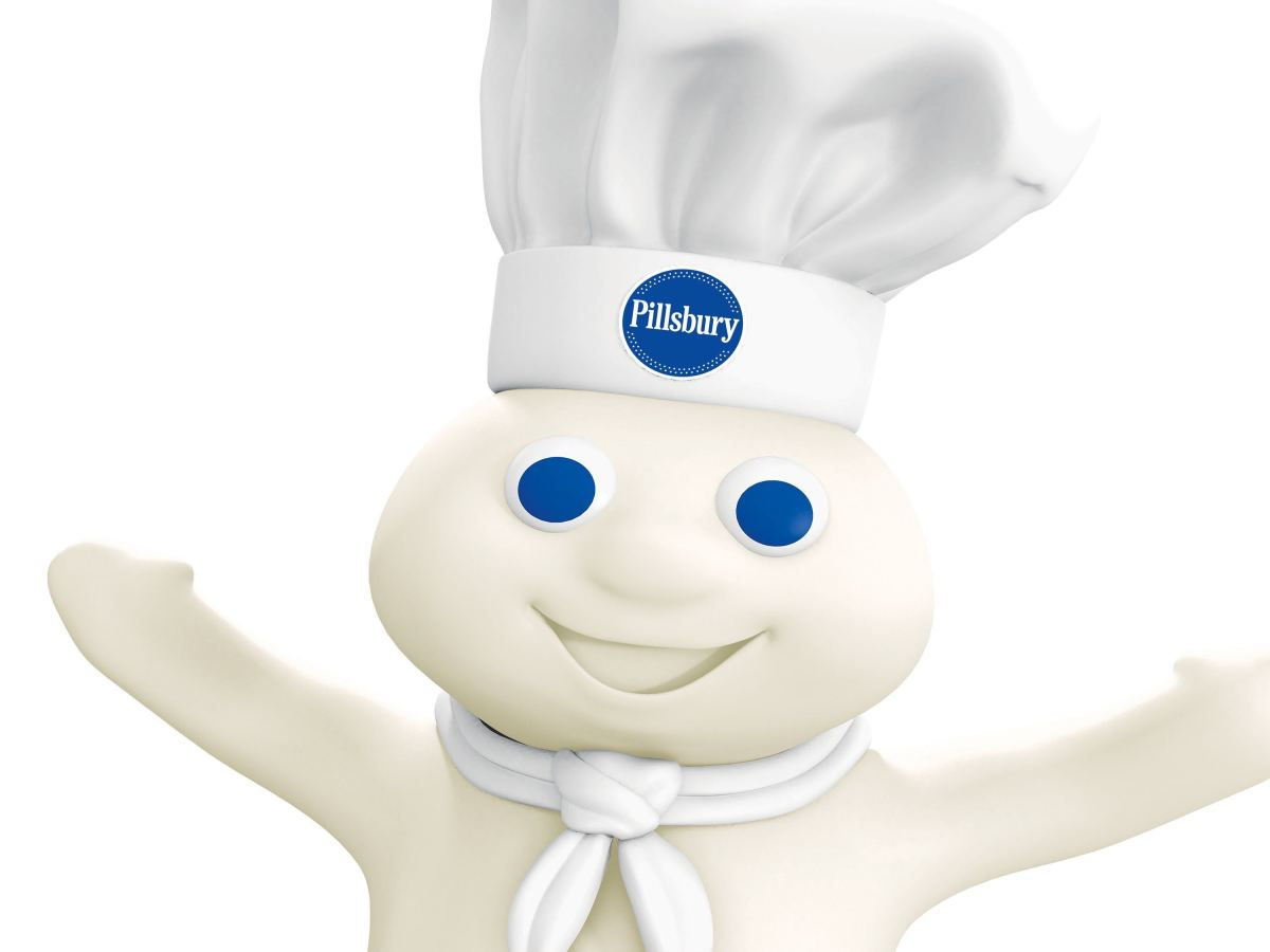 In 1965, the Pillsbury Doughboy made his debut in an advert for crescent dinner rolls.