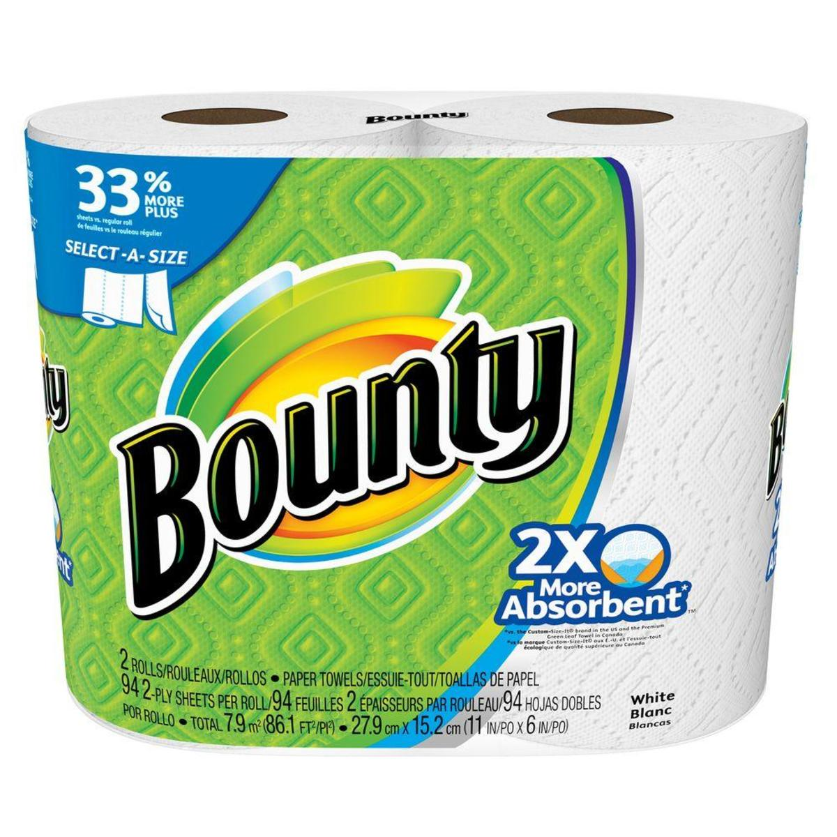 In 1965, Bounty paper towels first appeared on grocery store shelves.