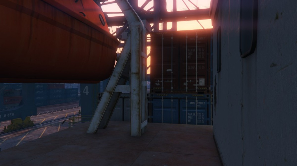 Climb the containers at THIS spot to run across the top of the cargo ship.