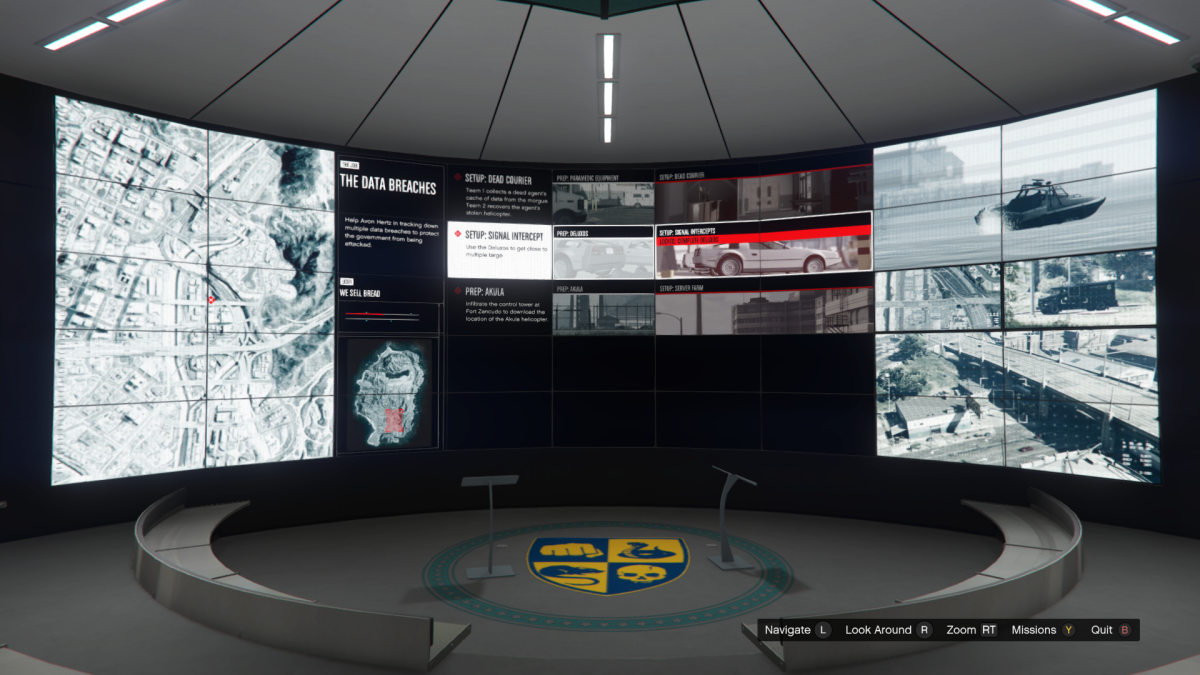 The Overview screen for Signal Intercepts.