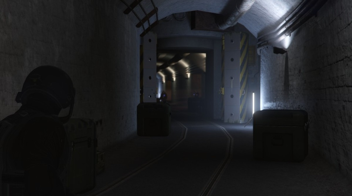 After the room in the above screenshot you'll have to fight a Juggernaut in this tunnel.