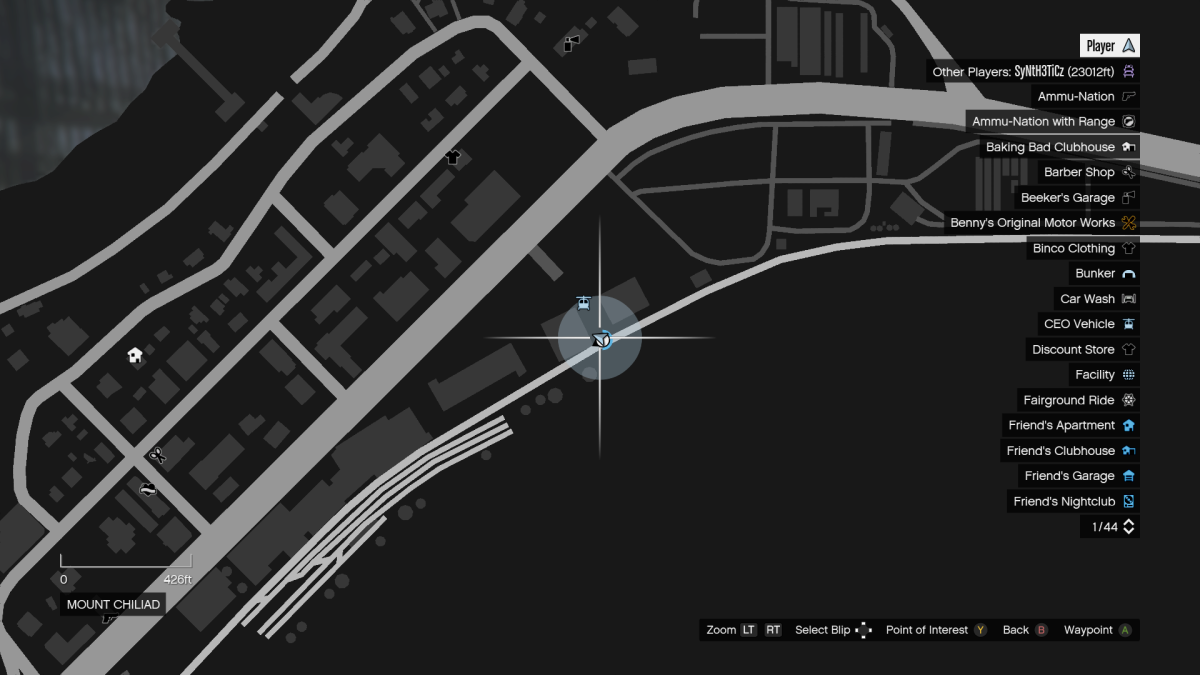 You can find a ladder here on the map (across the highway from where the Chernobog yard is).