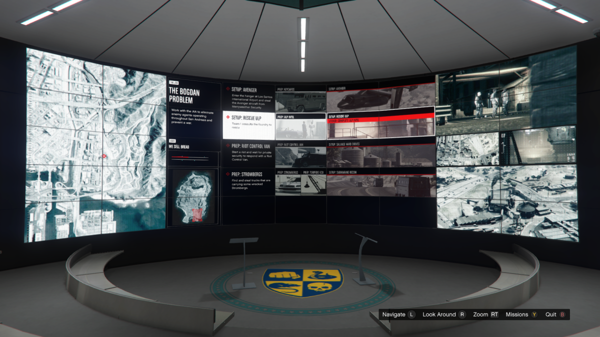 Overview screen for Rescue ULP