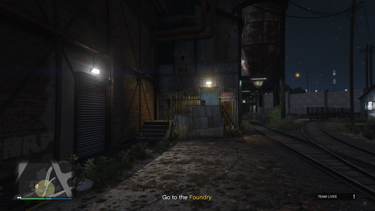 The far right-side entrance to the Foundry.