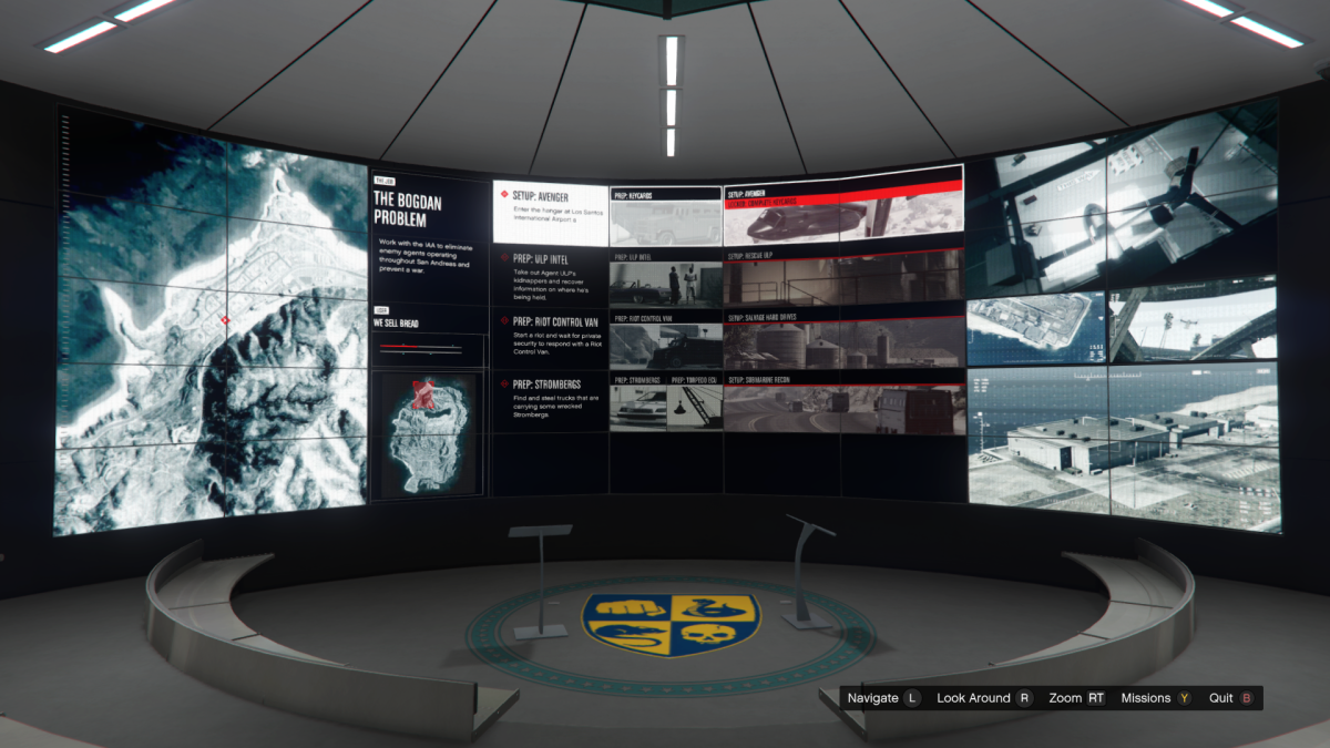 The Overview screen for Avenger.