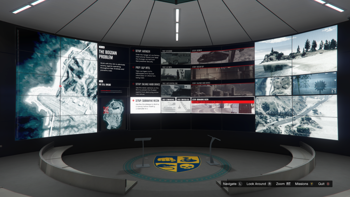 Overview screen for Submarine Recon.