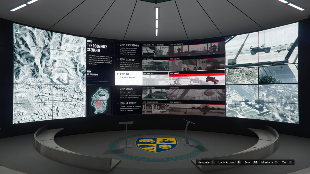 Overview screen for Barrage.