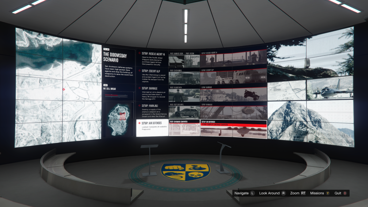The Overview screen for Air Defenses.