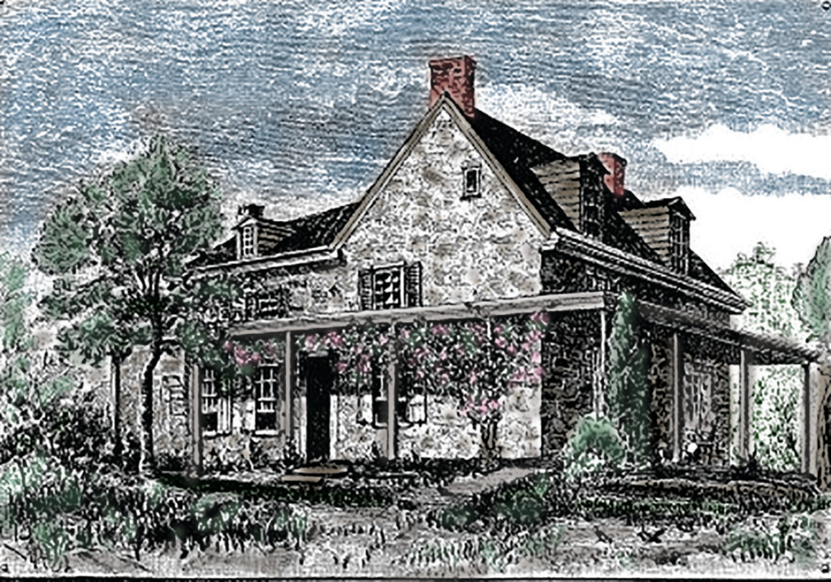 """George and Alice Maris's """"Home House,"""" which was rebuilt in 1723 by their grandson."""