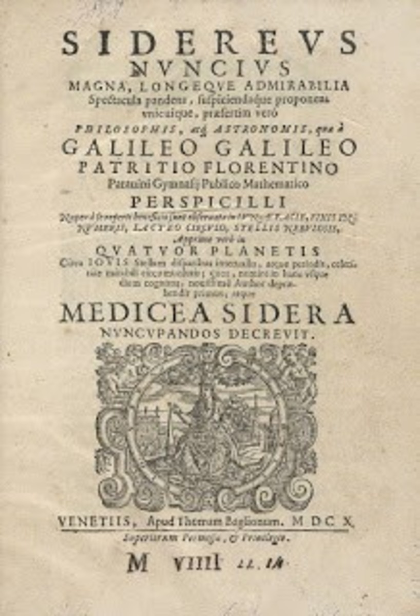 Sidereus Nuncius (The Starry Messenger) is a short astronomical treatise pamphlet published in New Latin by Galileo Galilei on March 13, 1610. It was the first published scientific work based on observations made through a telescope.