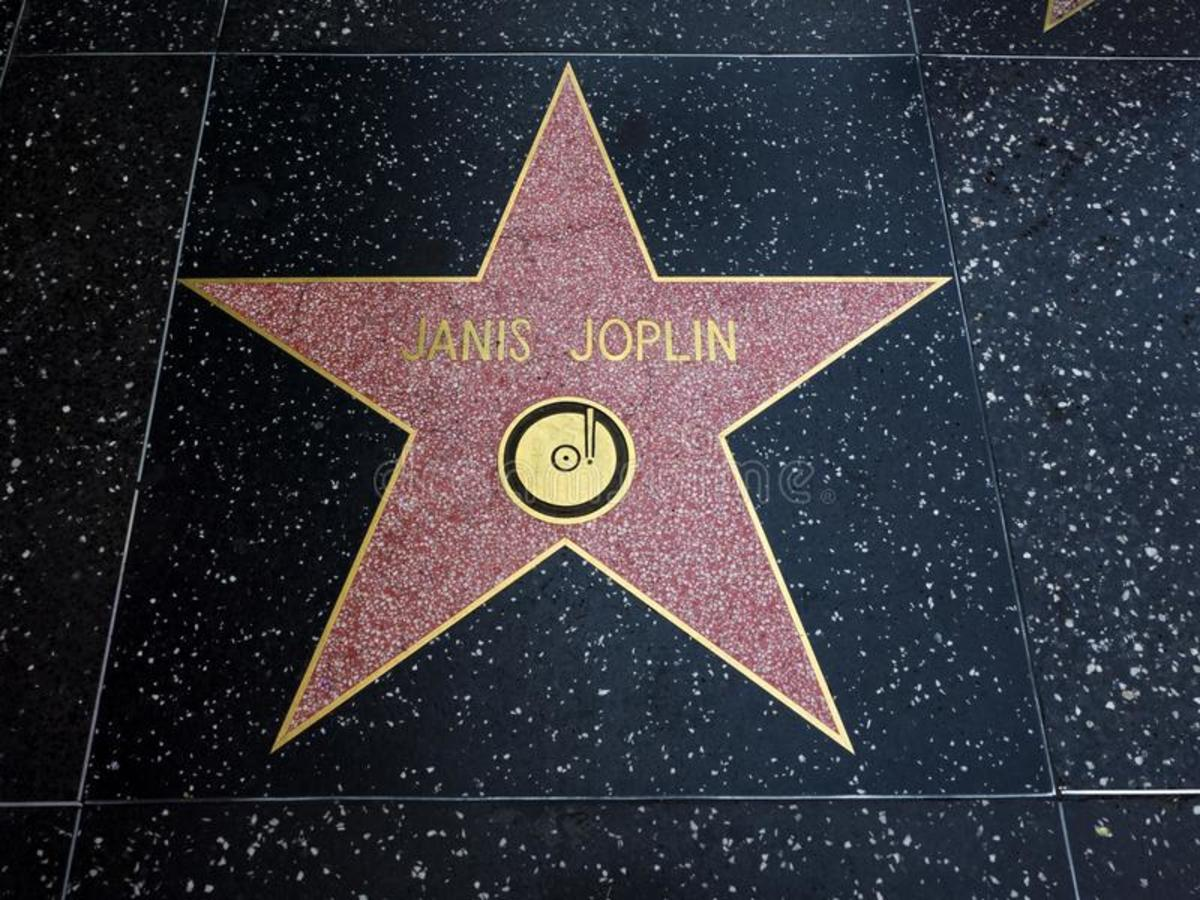 Janis Joplin's star on Hollywood Boulevard