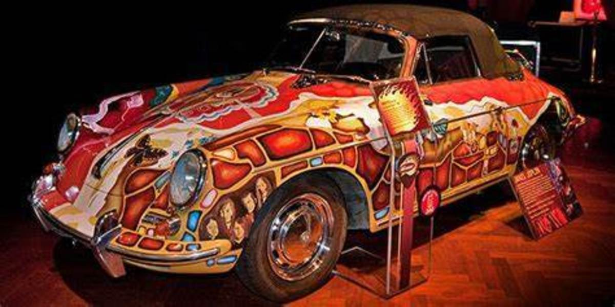 Janis Joplin's Porsche 356 at the Rock & Roll Hall of Fame
