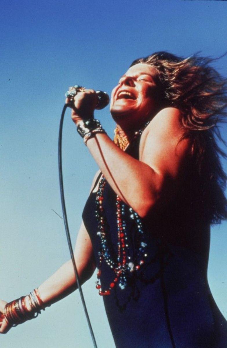 Janis Joplin performing live