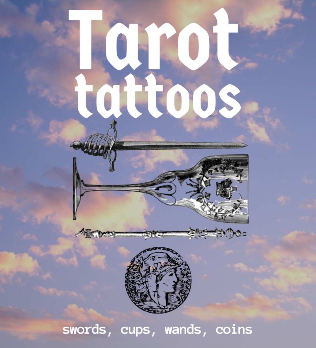 Tarot Tattoo Design Ideas and Meanings: The Minor Arcana (Suit Cards: Swords, Cups, Wands, and Coins)