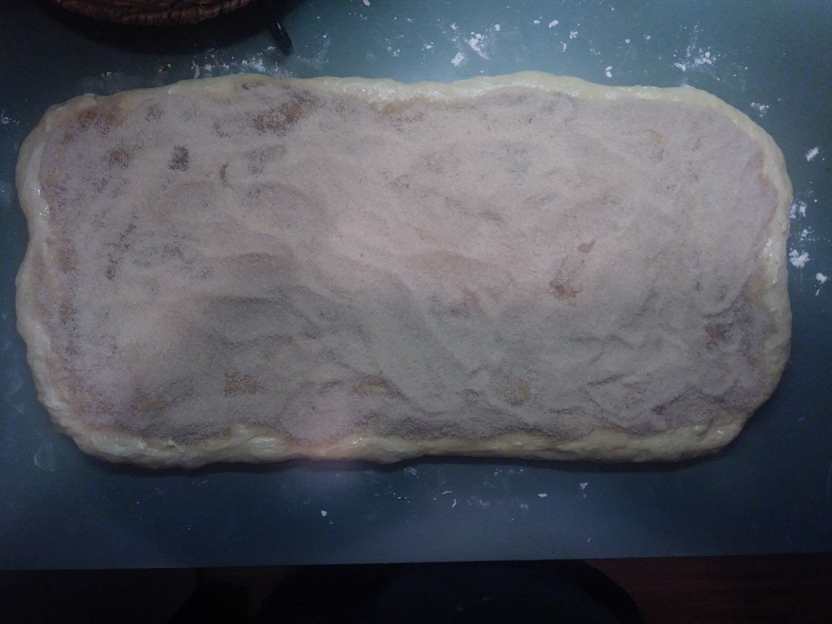 After adding the margarine and filling