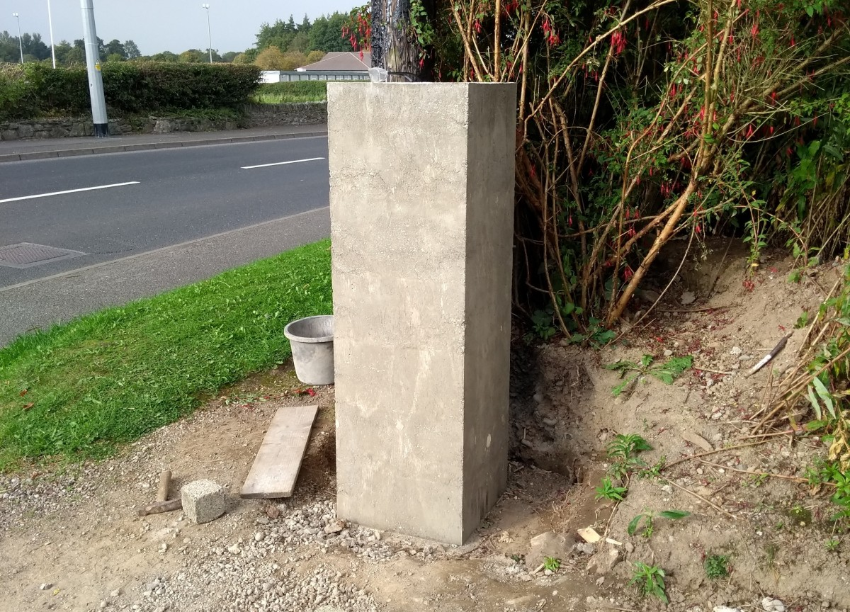 Concrete is a cheap, strong material that can be used for making lots of things like gate pillars and pavements.