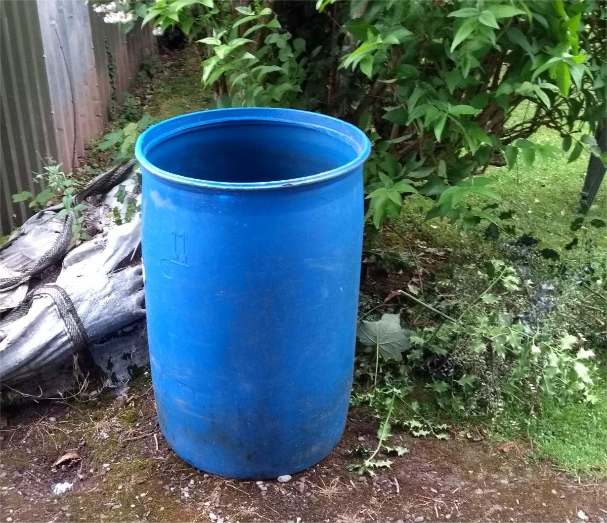 A barrel is more convenient than a hose because buckets can be filled quicker.
