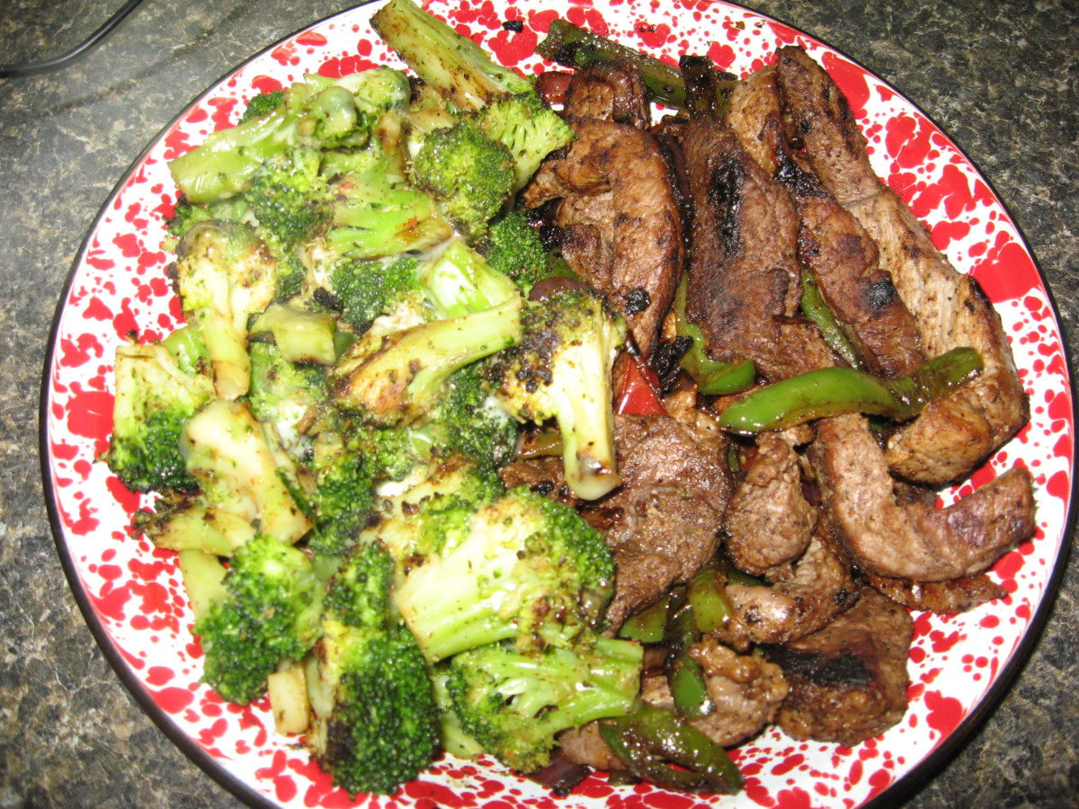 Diabetic Recipes: Mexican Steak and Broccoli