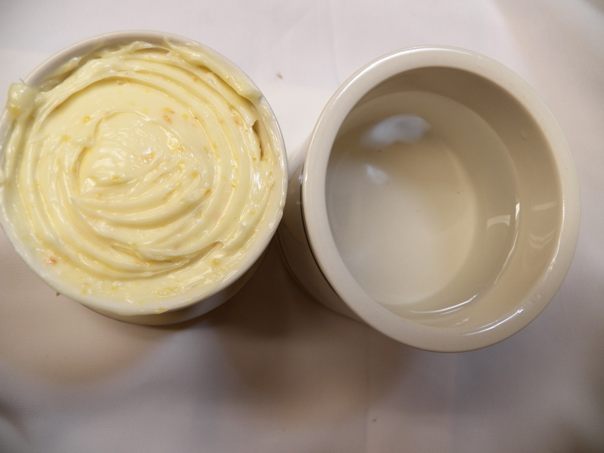 Butter crock with water and butter