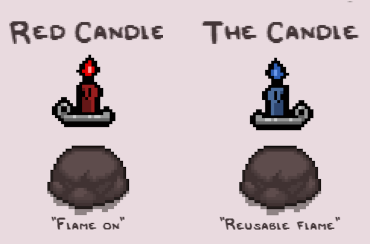 The Red Candle and The Candle